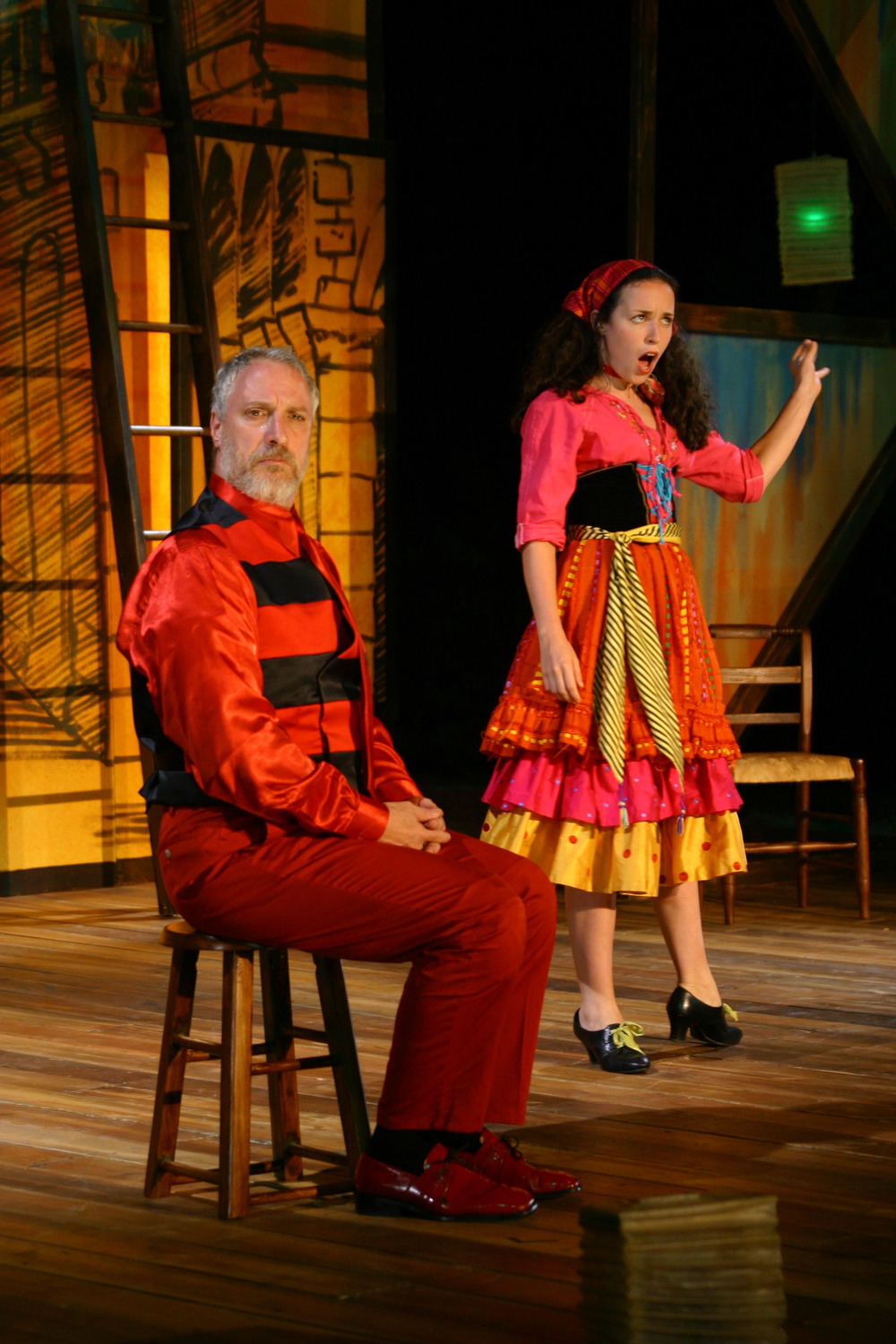 That Scoundrel Scapin - Geronte (Robert LuPone) Zerbinetta (Molly McCann).jpg
