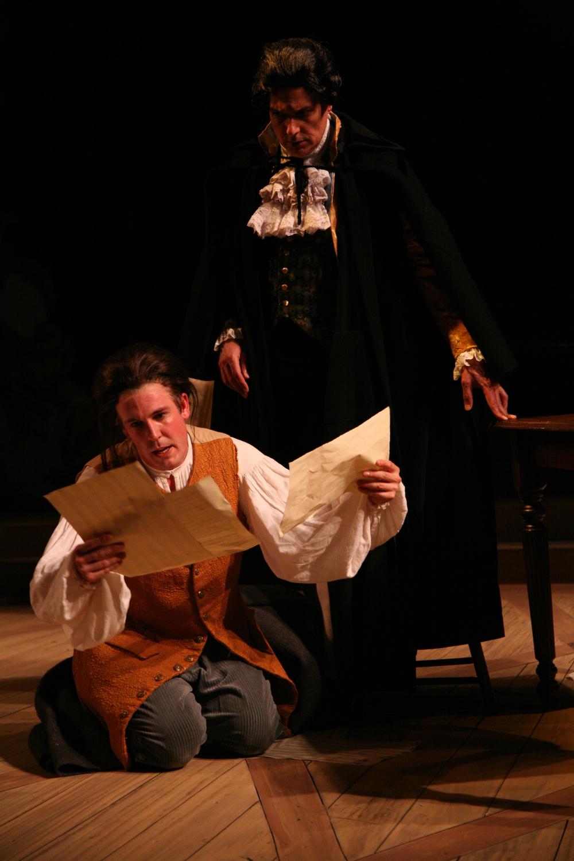 Amadeus - Mozart (Jordan Coughtry), Salieri (Robert Cuccioli).JPG