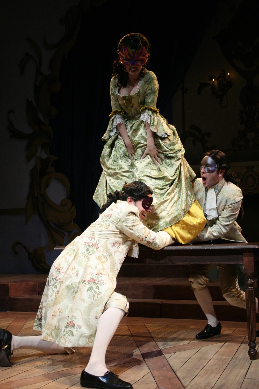 Amadeus - Constanze (Tricia Paoluccio), the Venticelli (Patrick Toon and Greg Jackson).jpg