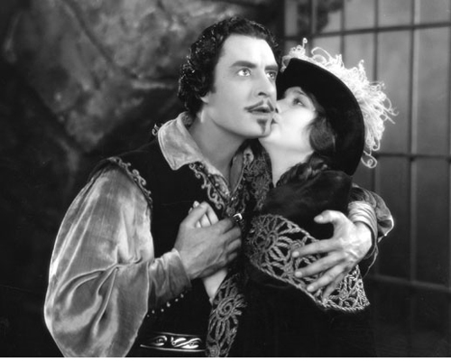John Gilbert as Bardelys and Eleanor Boardman as Roxalanne de Lavedan in  BARDELYS THE MAGNIFICENT  (1926)