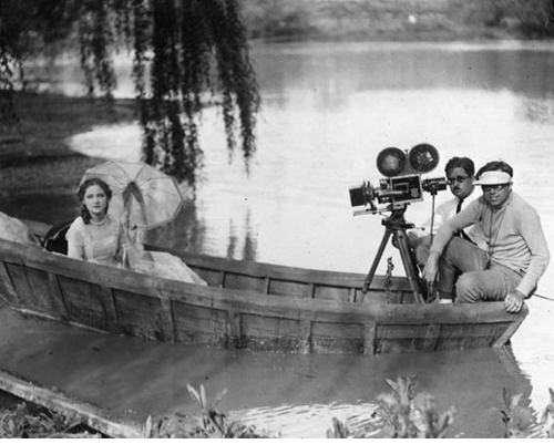BARDELYS THE MAGNIFICENT  Production Still showing leading-lady Eleanor Boardman, cameraman William Daniels and director King Vidor