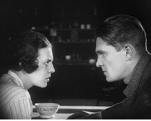 Natalia Glan as Miss Vivian Mend and Boris Barnet (as Barnet), co-star, co-director and co-screenwriter of MISS MEND (1927)