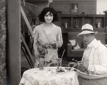 Asta Nielsen with writer/director Urban Gad
