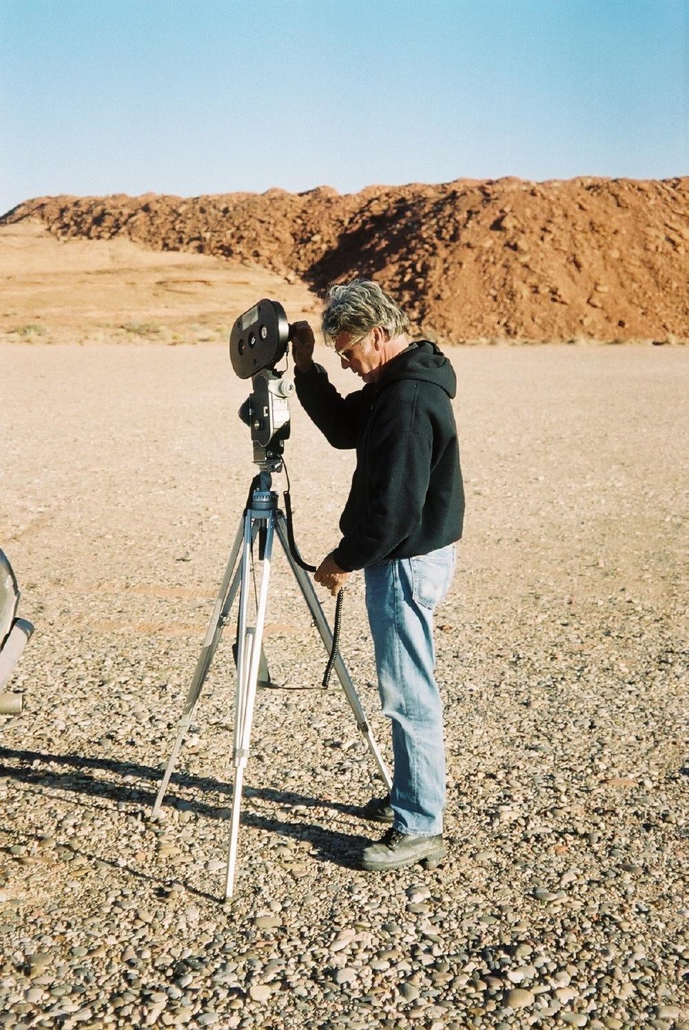 James Benning with camera.