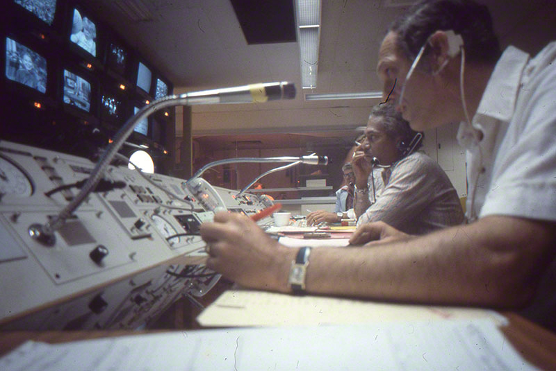 Technicians in the control room