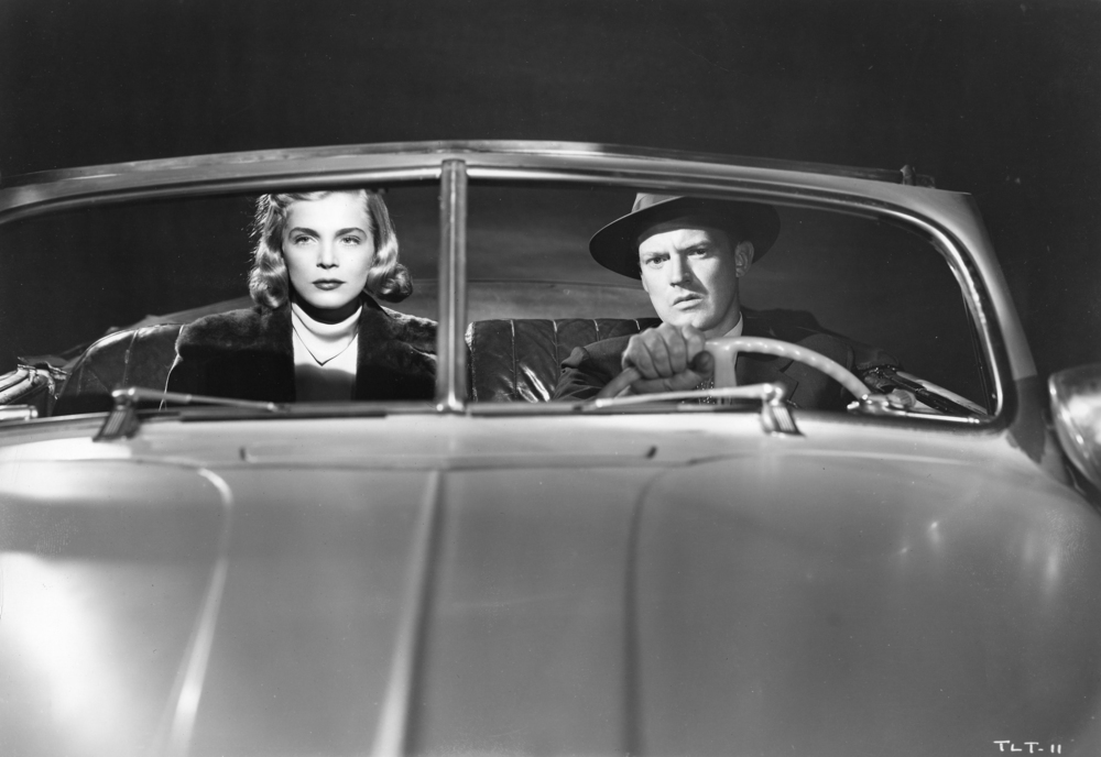 Lizabeth Scott and Arthur Kennedy in TOO LATE FOR TEARS