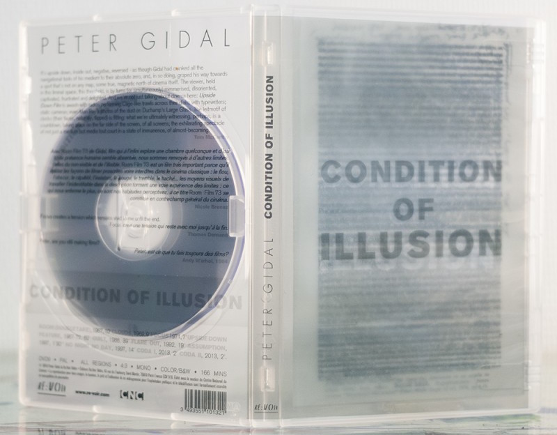 Close up of translucent DVD packaging and booklet.