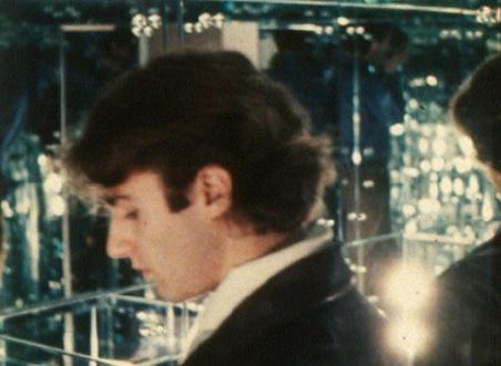Warhol star Gerard Malanga in WARREN SONBERTS HALL OF  MIRRORS  (1966)
