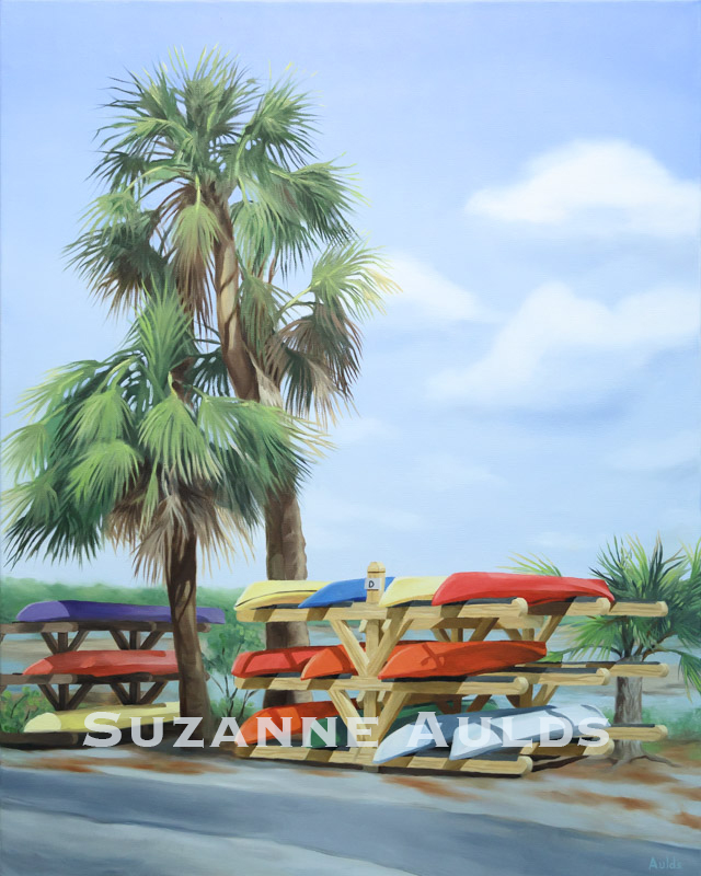 """Under the Palmettos"" by Artist, Suzanne Aulds"