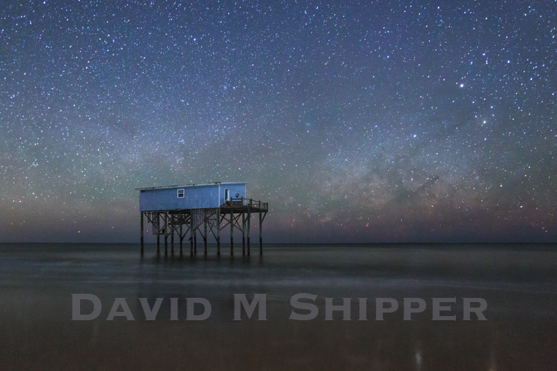 """Beach House in the Stars"" by Photographer, David M. Shipper"