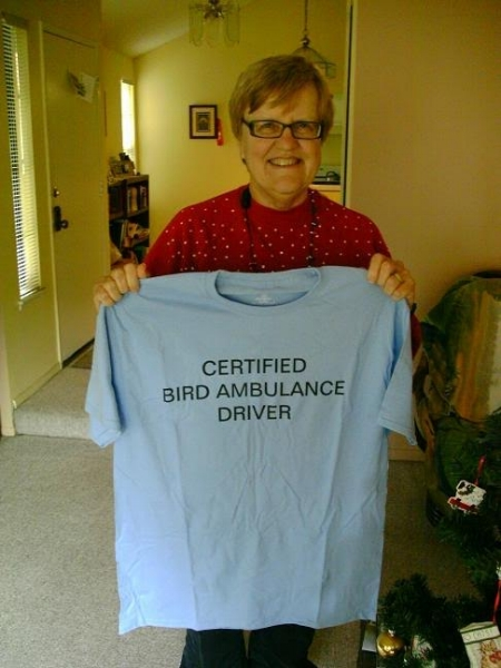 Jo Ann Van Reenan- Member Jo Ann has been a volunteer with ORC for 10 years, transporting sick and injured birds from reporting parties to the center.