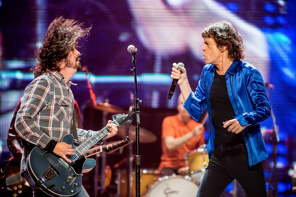Dave Grohl and The Rolling Stones