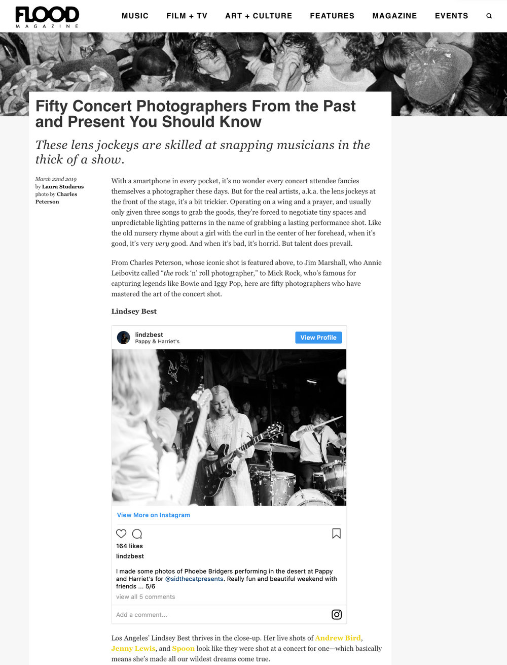 Lindsey Best music photographers Flood Magazine