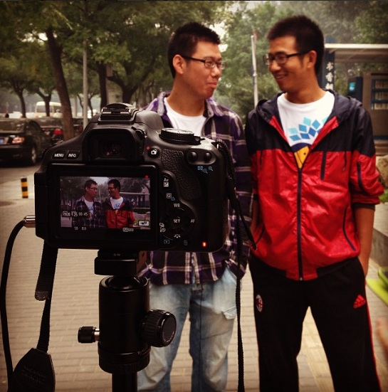 Chinese men approached in the street to talk about feminism. Many believe a man can't be a feminist.