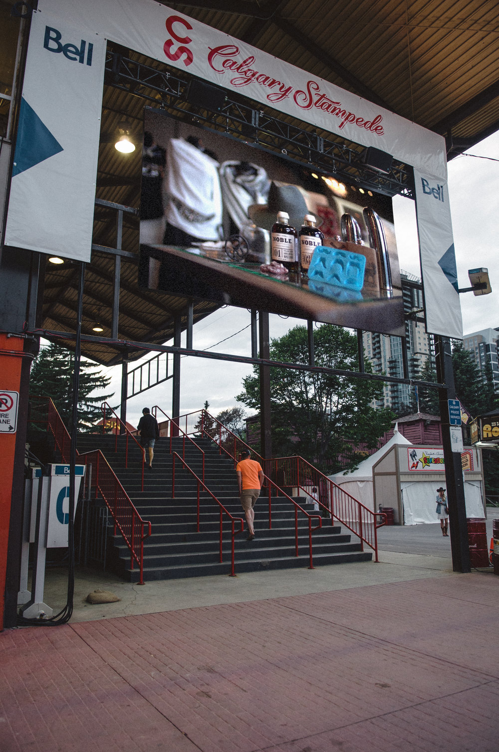 Superscreen Spot - A commercial was also produced to promote the collection on the Stampede grounds. The goal was to visually standout from traditional Stampede souvenirs and merchandise; as well as the traditional visuals associated with Stampede advertising on the grounds.