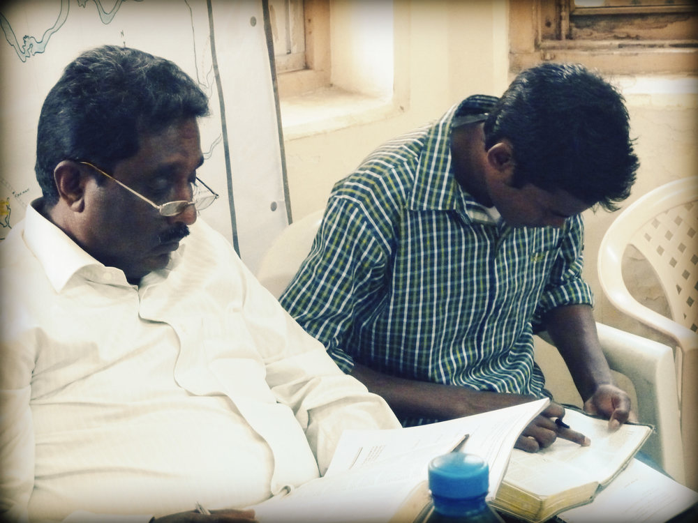 """""""Particularly with mental health there is a stigma - isolation from the normal relationships,"""" says John K John, founder of the Biblical Counseling Trust of India.""""But change is a community project. Healing is a community project."""" BCTI's courses train church leaders, like these two pastors, to meet the pastoral counseling and mental health issues of their communities. - Photo courtesy of BCTI"""