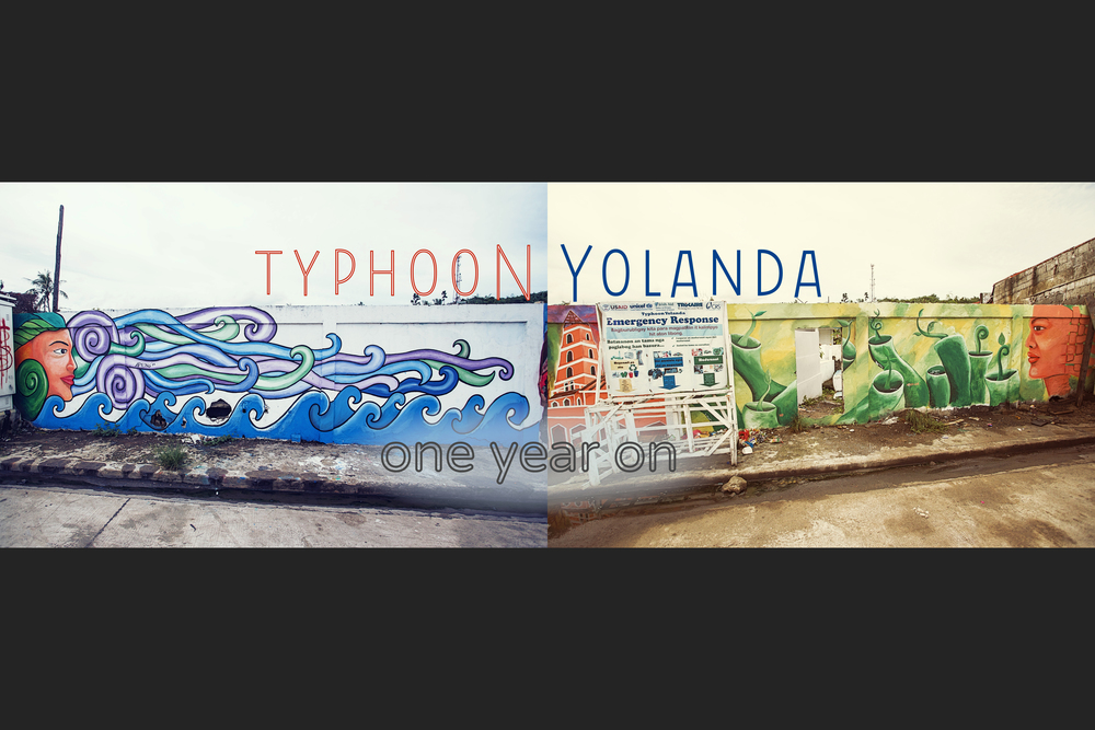 BEFORE and AFTER a SUPER TYPHOON