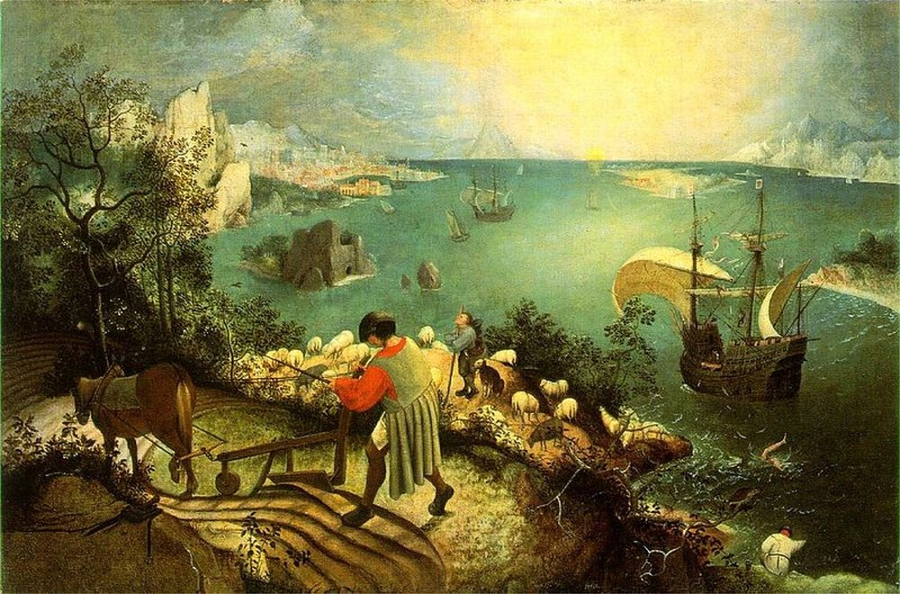 Pieter Bruegel's  Landscape With the Fall of Icarus