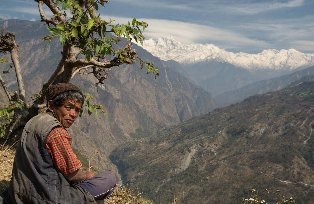The Red Cross estimates that 4 million people in Nepal - many of them inhabitants of the often harsh highlands - are still living in temporary shelters - photo by Mark Morrison.