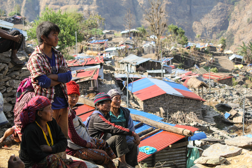 Many villagers left Kichot during the monsoon season that began a month or two after the earthquake, fearful that the rains would cause more landslides and damage. Some remained, and others have returned since - photo courtesy of Ramesh Man Maharjan.