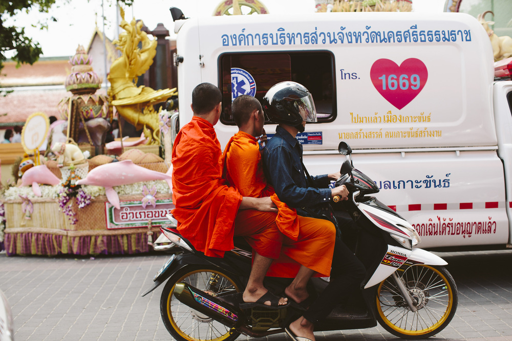 It is common practice for Thai men to enter monkhood for varying lengths of time. It is seen as an opportunity to make merit for their family  - Photo courtesy of Hanna Smith.