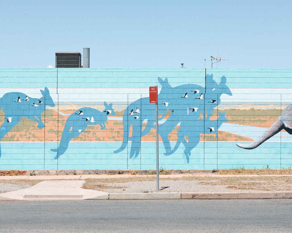 There were some impressive murals spotted during our road trip. There's a lot of artistic talent in the outback.