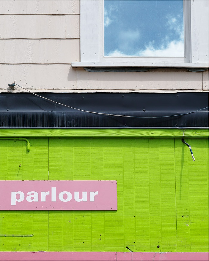 The colours here really say New Zealand to me, the green and black and white. I think the fact this crop means the word parlour has a sense of ambiguity about it.