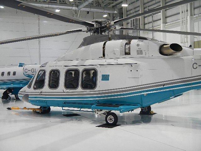 AW139 in Hangar