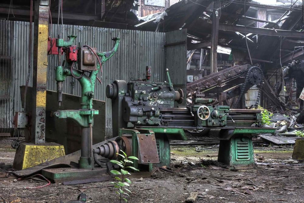 Fort Pitt Foundry: Dilapidated Lathe