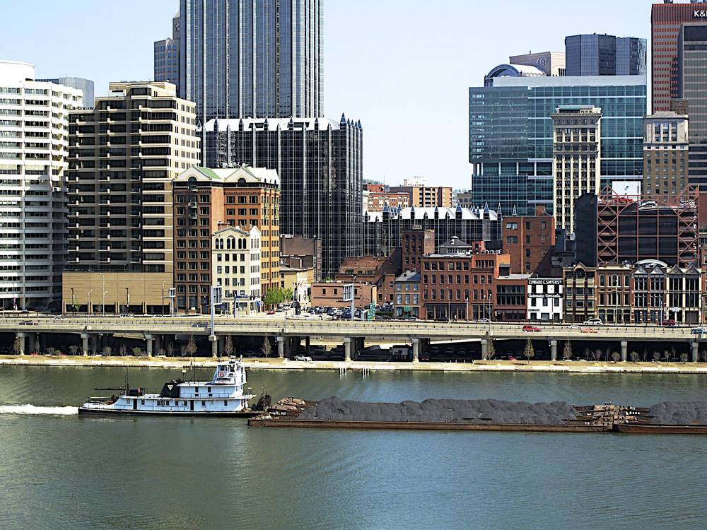 Pgh Boats: Barges on the Monongahela