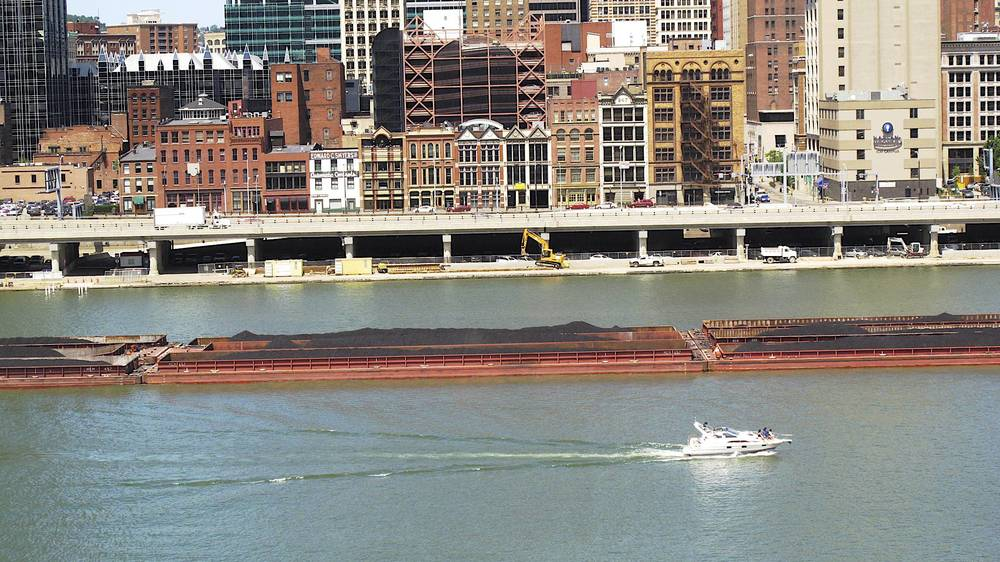 Pgh Boats: Coal Barges on the Monongahela