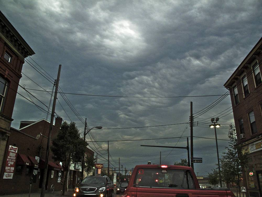 Pgh Clouds: Penn Ave in Lawrenceville