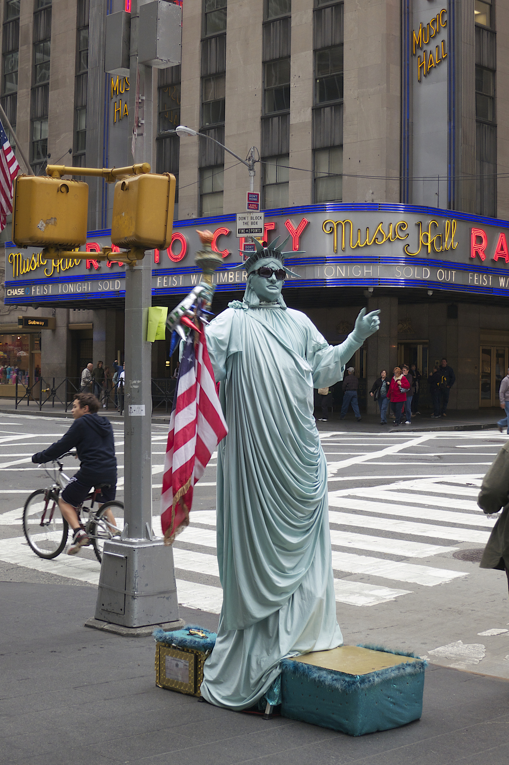 NYC Icons: Lady Liberty at Radio City Music Hall