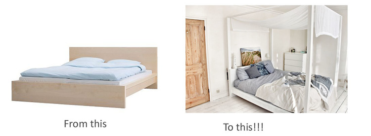 Ikea hack: Malm bed to four poster — Hester\'s Handmade Home