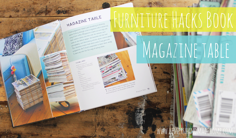 magazine table furniture hacks