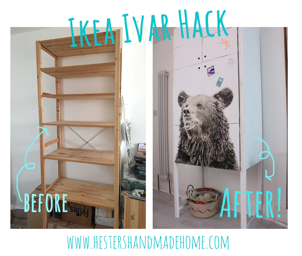 hester 39 s house updates ikea ivar hack hester 39 s handmade home. Black Bedroom Furniture Sets. Home Design Ideas