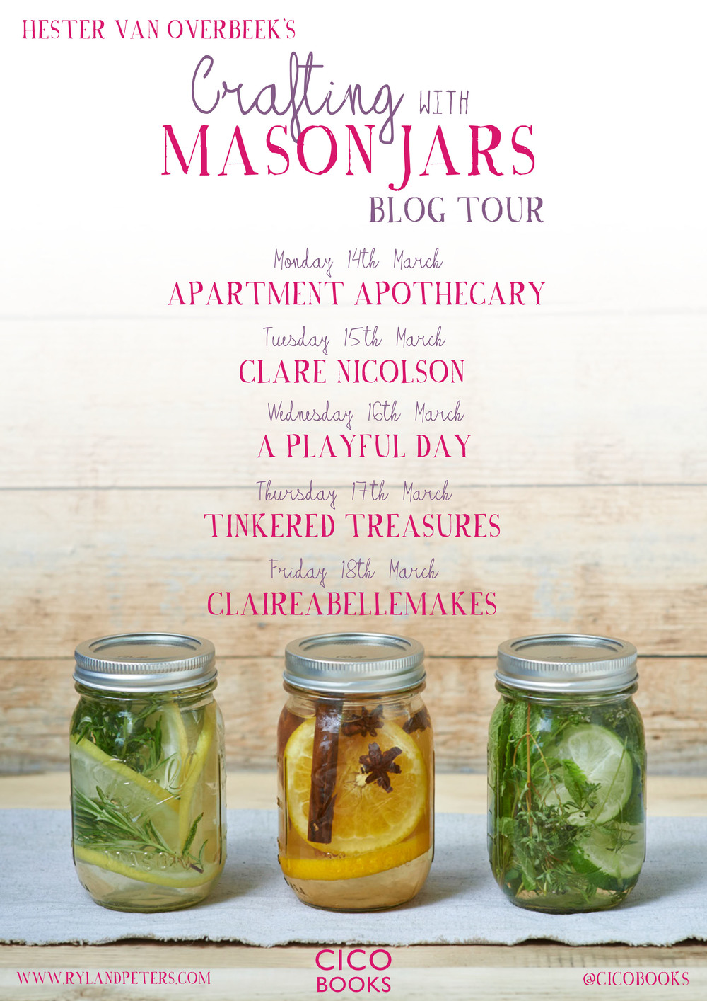 crafting with mason jars blog tour