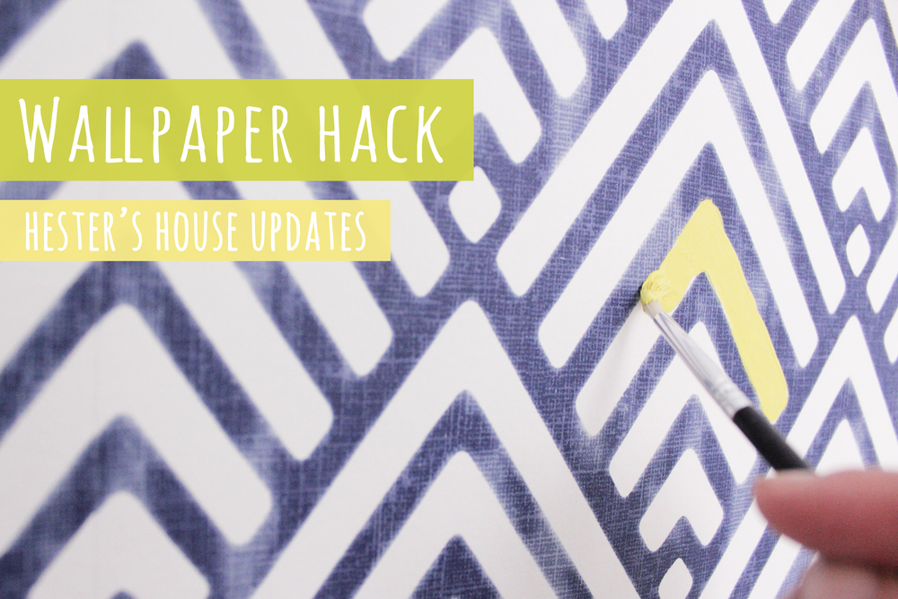 costumize your wallpaper with paint, tutorial by Hester's Handmade Home