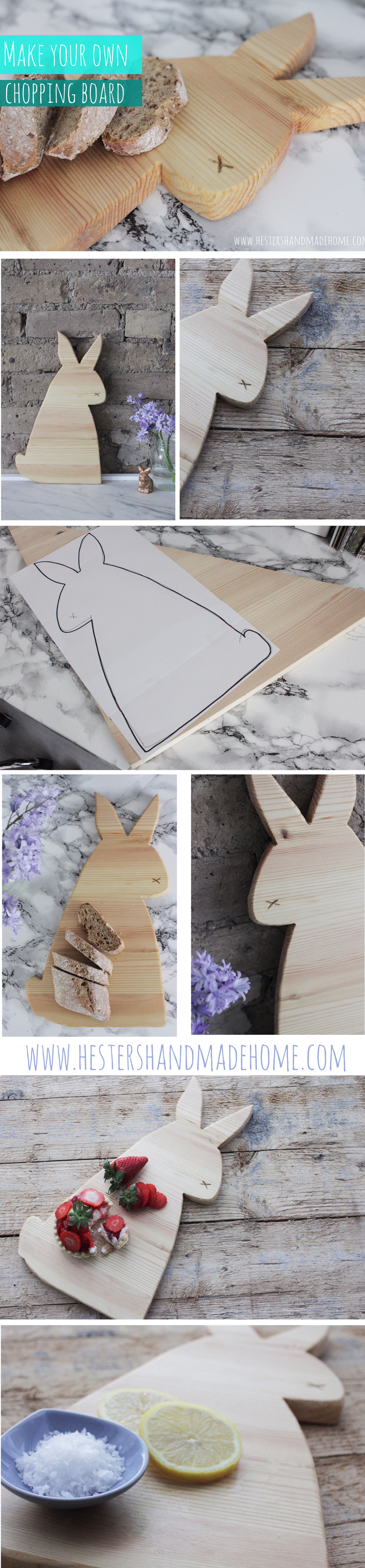 Make your own chopping board, tutorial by Hester's Handmade Home