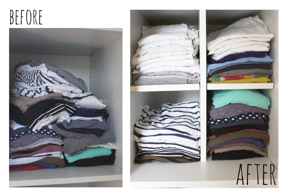Keep your wardrobe organised with these easy to make dividers, tutorial by Hester's Handmade Home