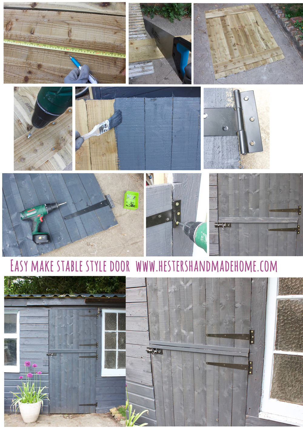 easy to make stable door, tutorial by Hesters Handmade Home