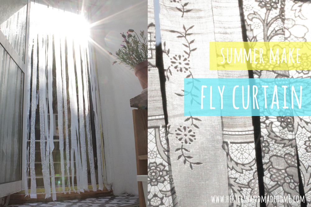 fly curtain diy, tutorial by Hester's handmade Home
