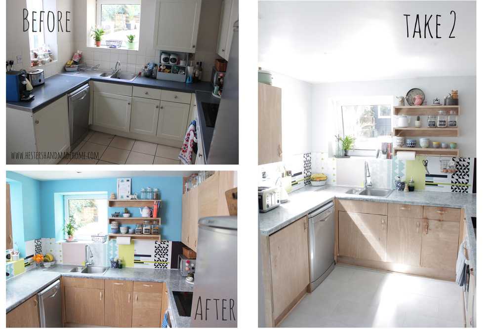 kitchen before and after by www.hestershandmadehome.com