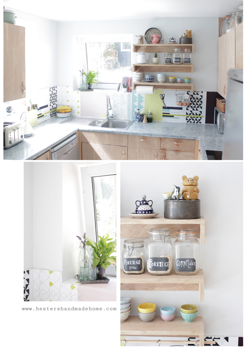 Scandi style kitchen makeover by www.hestershandmadehome.com