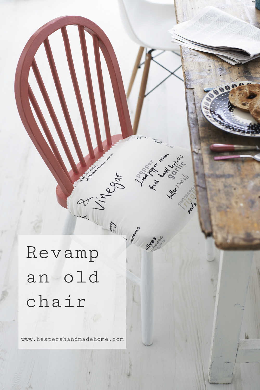 Revamp an ld chair, tutorial from the Furniture Hacks book by Hester van Overbeek