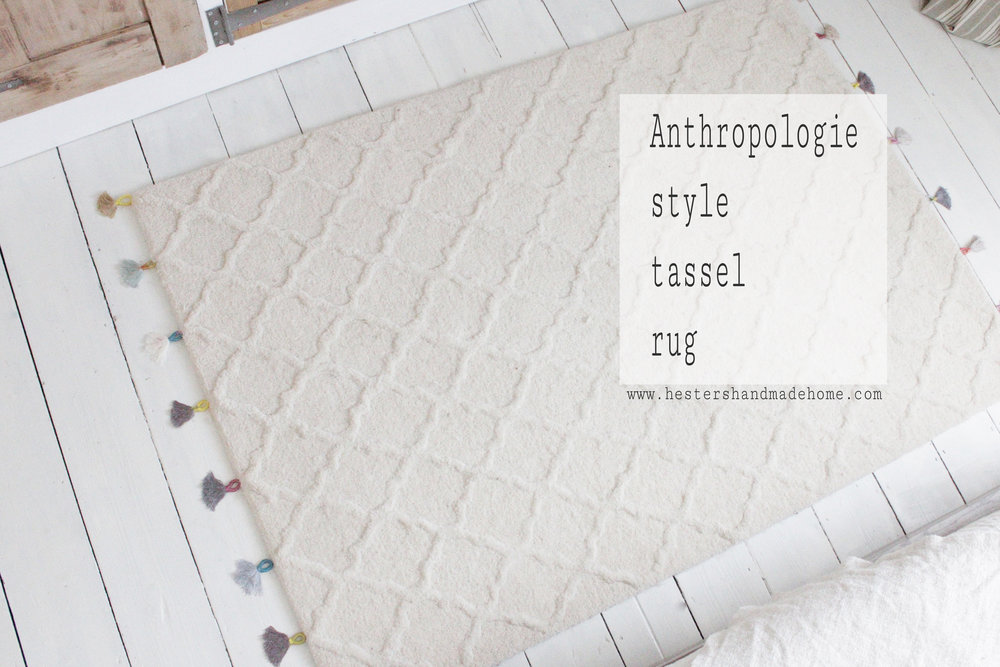 Add tassels to your rug for an Anthropologie style look