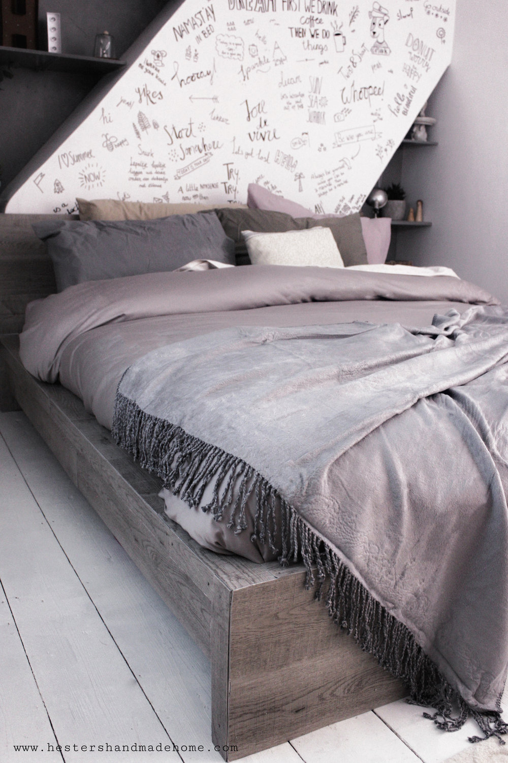 hygge your bed, tutorial by hesters handmade home