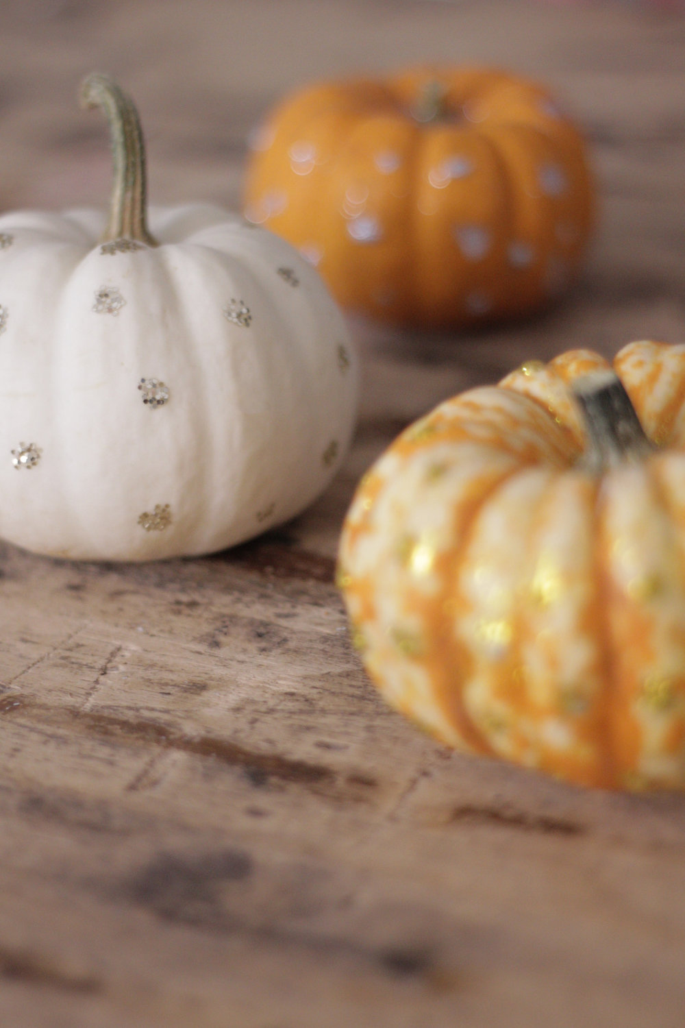 glitter polka dot pumpkins, tutorial by Hesters Handmade Home