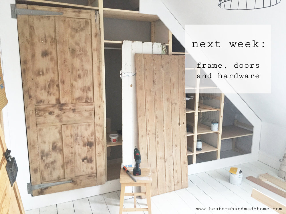 wardrobe with reclaimed doors, tutorial by hesters handmade home