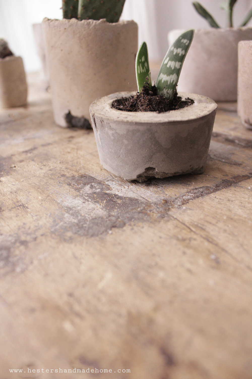 Industrial looking small planters by www.hestershandmadehome.com